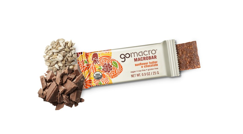 Sunflower Butter + Chocolate MacroBar by GoMacro