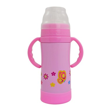 Insulated Stainless Steel Sippy by Eco Vessel (pink)