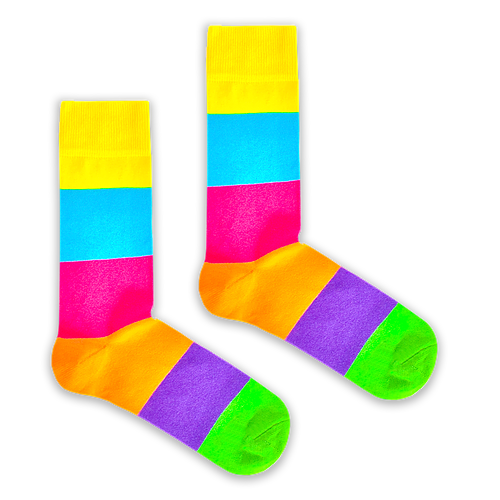 Rainbow Stripe Socks by Bryt