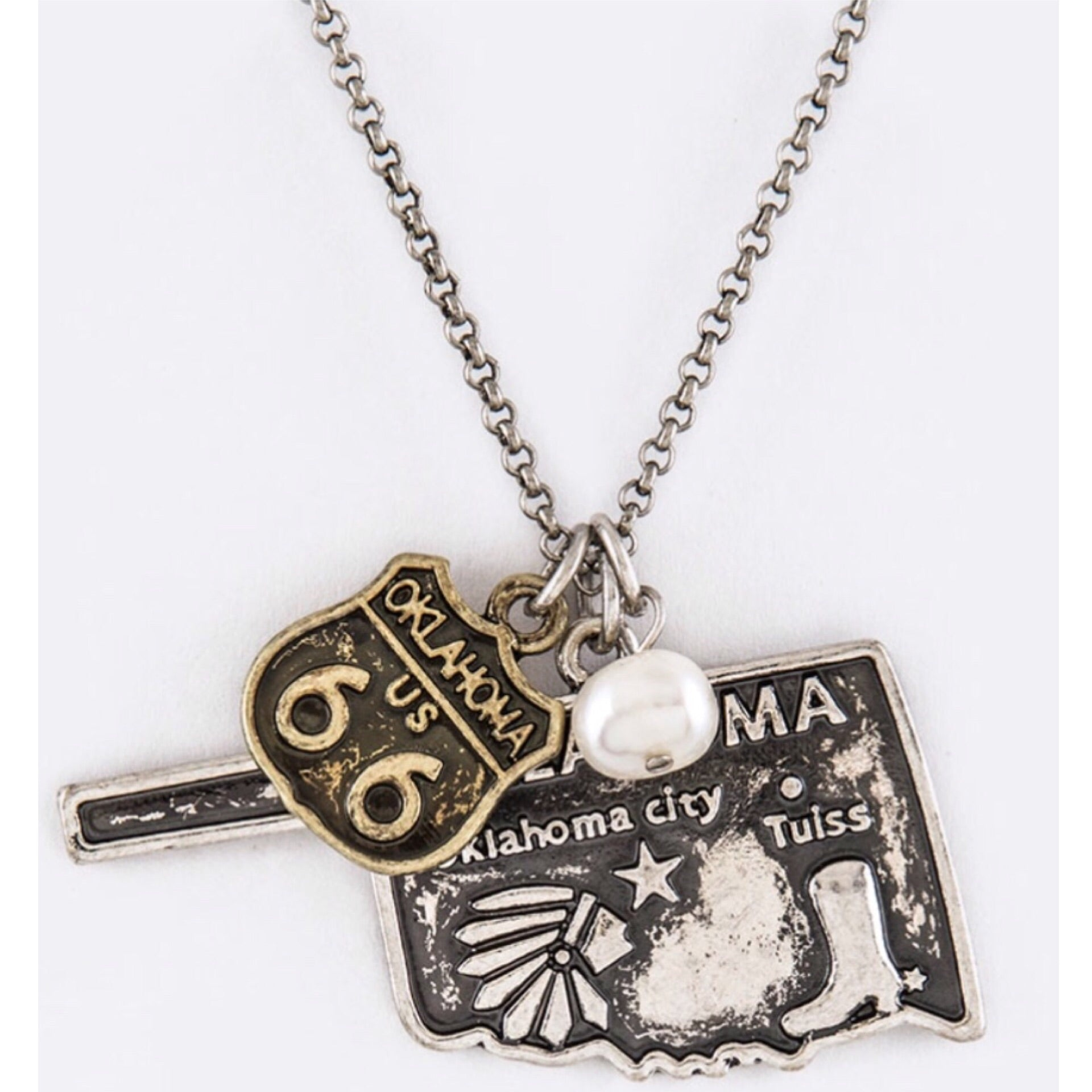Oklahoma Mix Charm Necklace Set