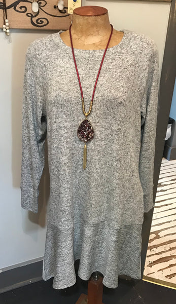Grey soft dress