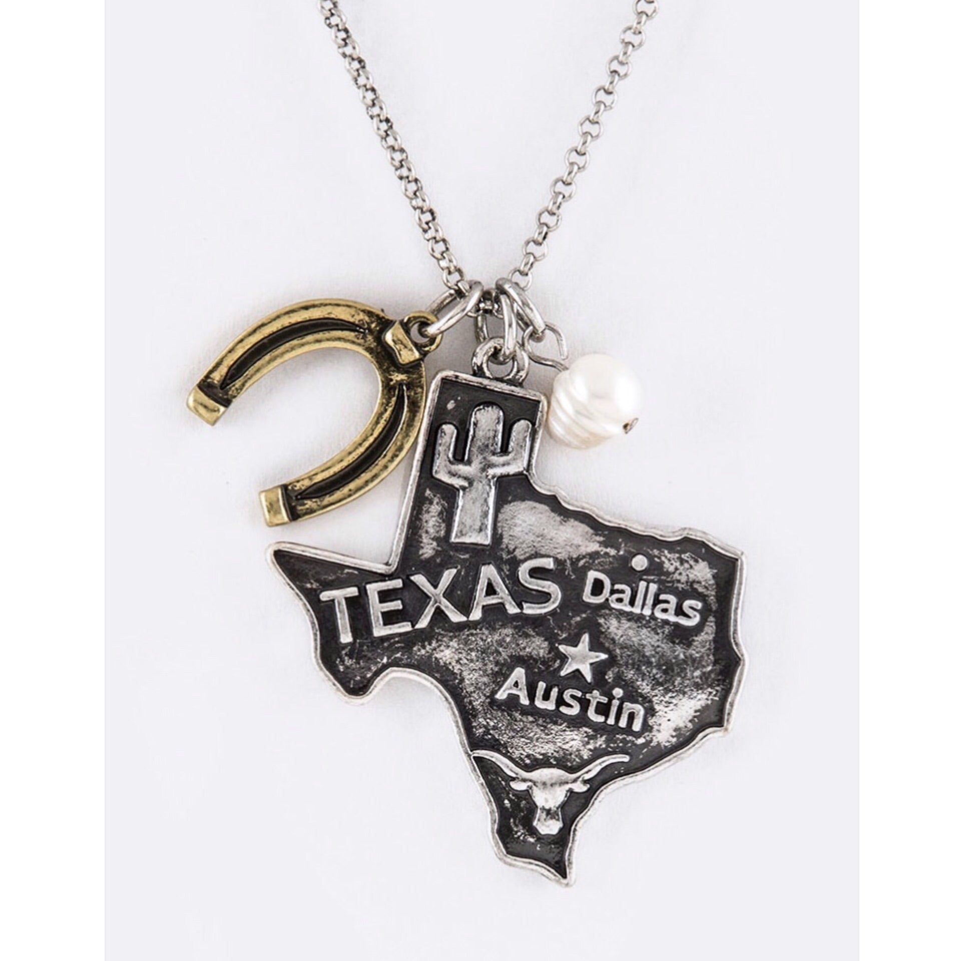 Texas Mix Charm Necklace