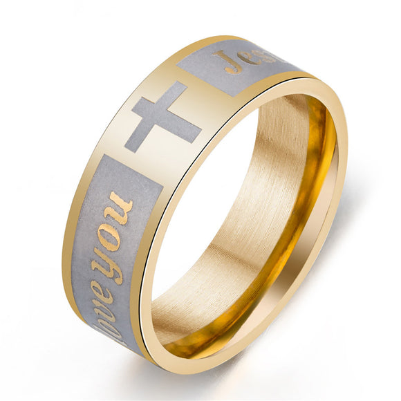 Men And Women Jesus Love You Cross Ring