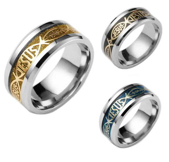 High Quality Jesus Stainless Steel Rings for Men and Woman