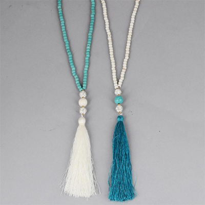 Long Chain Tassel Necklace