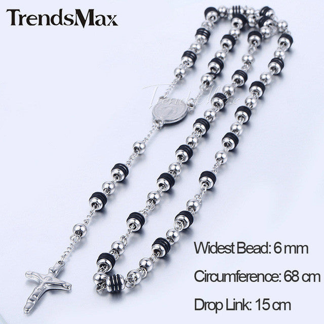 Rosary Pendant Necklace