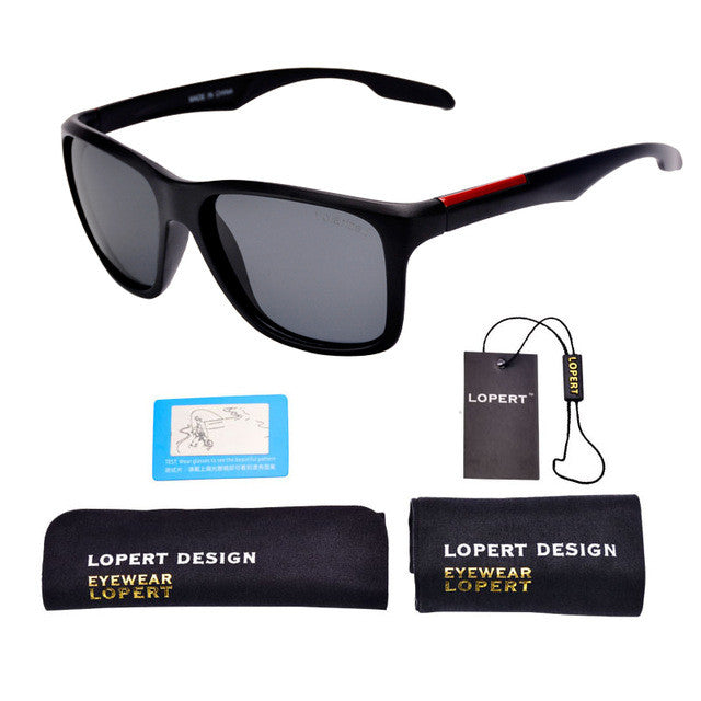 Black Fashion Polarized Sunglasses
