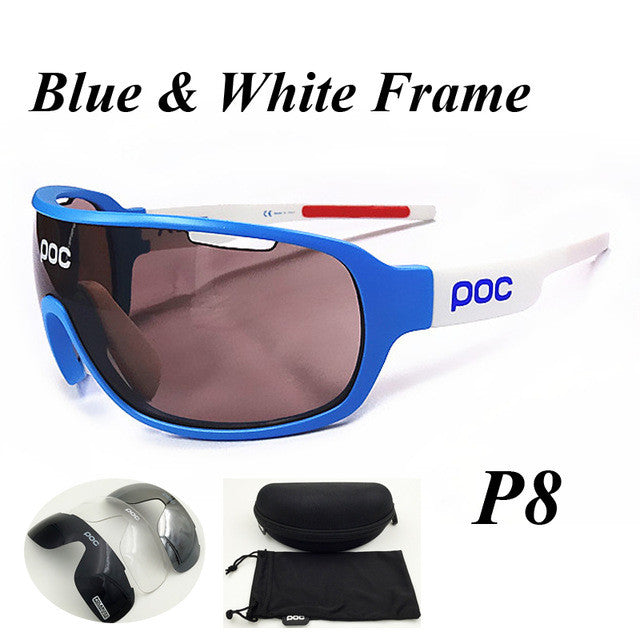 Polarized Cycling Sunglasses - 4 Lenses