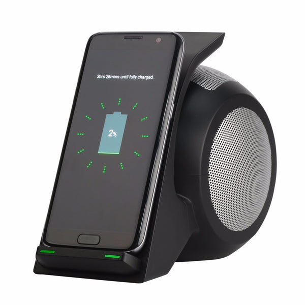 ByCluss Fast Wireless Charging with Bluetooth Speaker
