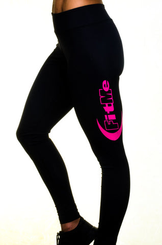 Leggings - Black/Pink FitMe