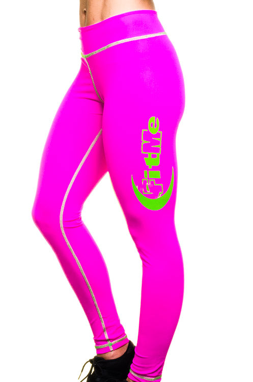 Leggings - Pink/Green FitMe