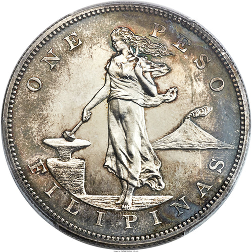 KEY DATE! Silver Peso Philippines Proof 1905 PR-64+ PCGS - Coin