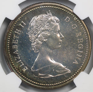 RAINBOW! 1973 Canada Silver Dollar Centennial SP-65 NGC - Coin Proof