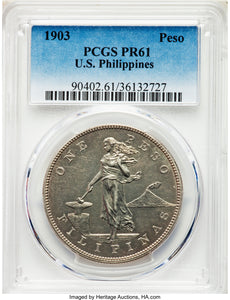 Philippines: USA Administration Proof Peso 1903 PR61 PCGS