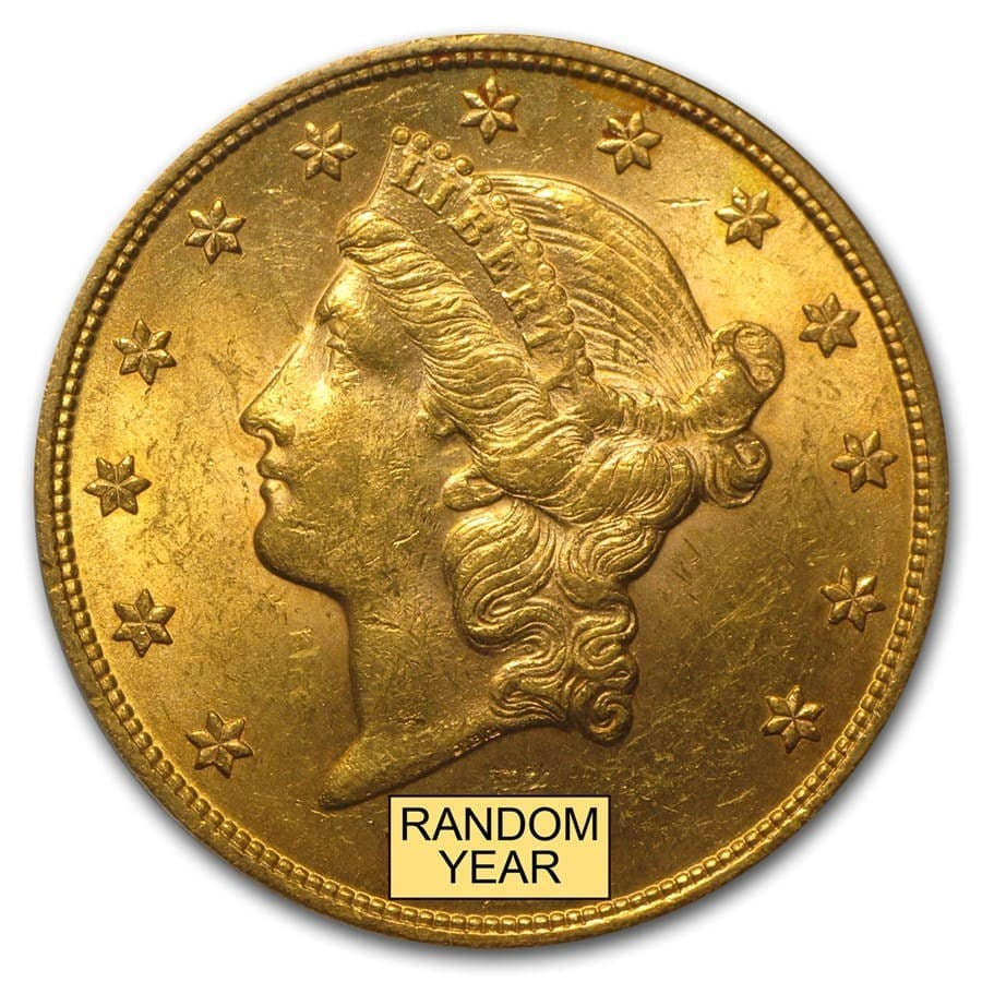 U.S. $20 Gold Liberty Double Eagle (Random Year) BU (Brilliant Uncirculated)