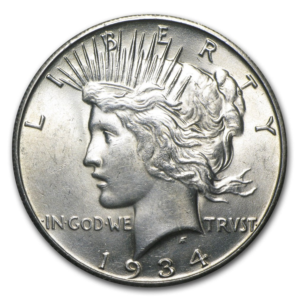 RARE! DEAL! 1934-S Silver $1 Peace Dollar MS-62 PCGS - Coin