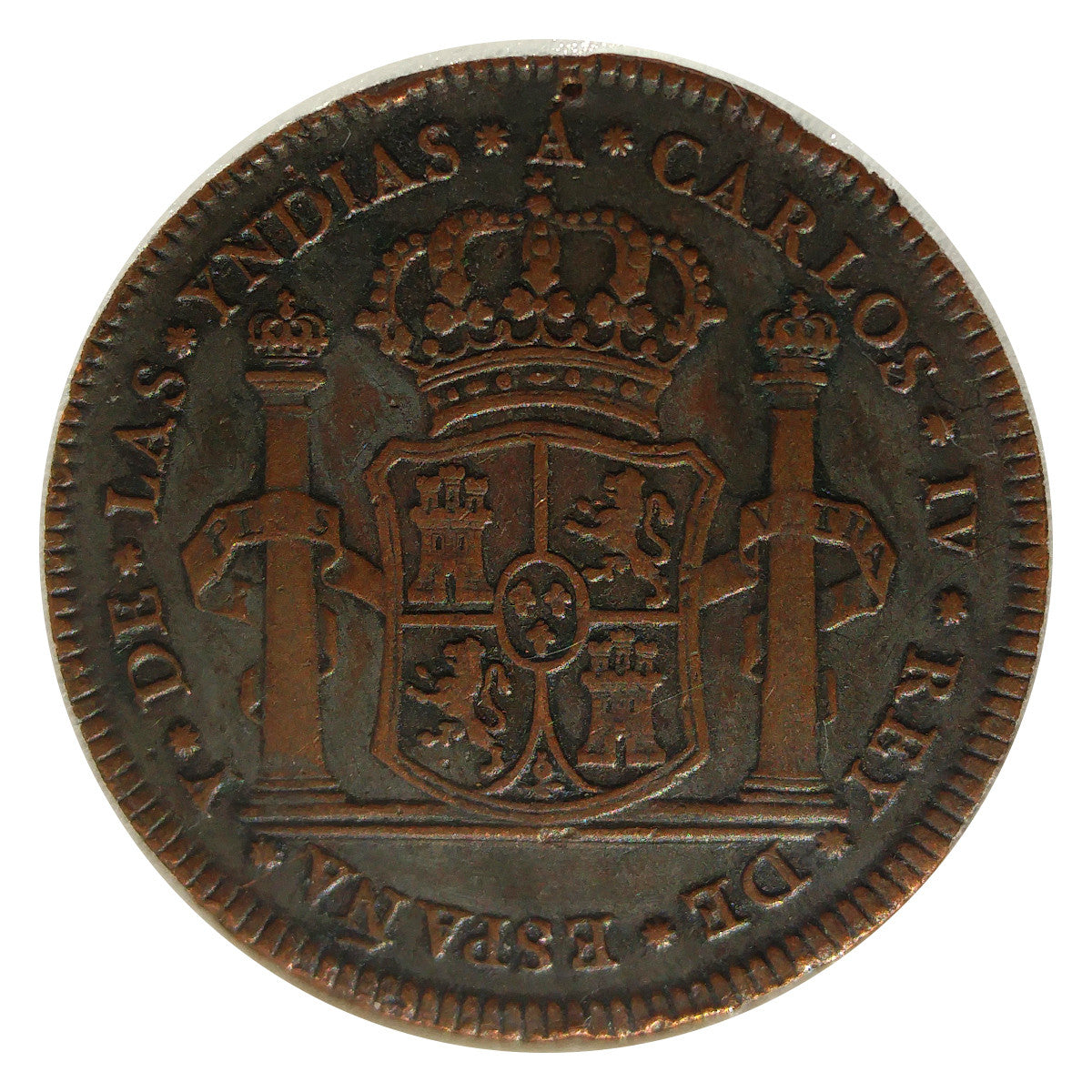8 Reales Copper Pattern Coin 1789
