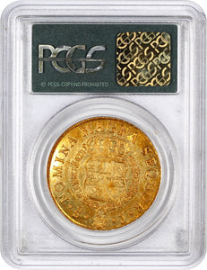 CHILE - Gold 8 Escudos - 1751-SO J FERDINAND VI MS61 PCGS OGH KM# 3 - RARE!