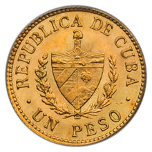 Cuba Republic 1916 AV Gold Peso MS-64 PCGS - Coin