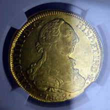 Chile - Gold 8 Escudos 1802-SO-JJ AU-53 NGC - Coin