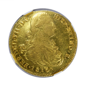 Colombia - Gold 8 Escudos 1810-P JF AU-53 NGC - Coin