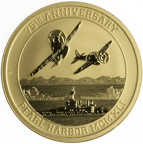 Gold $100 1 oz Pearl Harbor Perth Mint .9999 2016-P - Bullion Coin