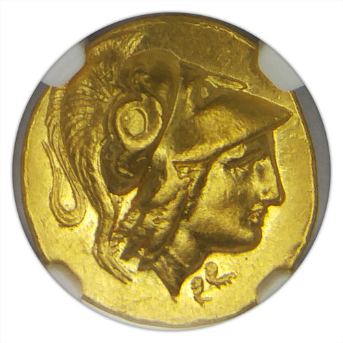 RARE! Kingdom of Macedon Alexander III BC 336-323 XF NGC - Ancient Gold Coin