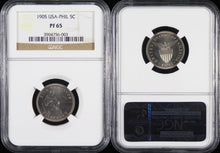 KEY DATE! Philippines 5 Centavos 5C 1905 PF-65 NGC - Proof Coin