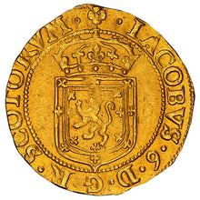FINEST KNOWN! RARE! Gold Sword and Scepter Scotland James VI 1602 MS-63 NGC - Coin