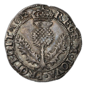 Scotland - Silver Thistle Mark 1602 James VI  KM-16, S-5497