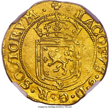 SCOTLAND - Gold Sword and Sceptre - 1602 MS63 NGC - Top Pop! Finest Known!