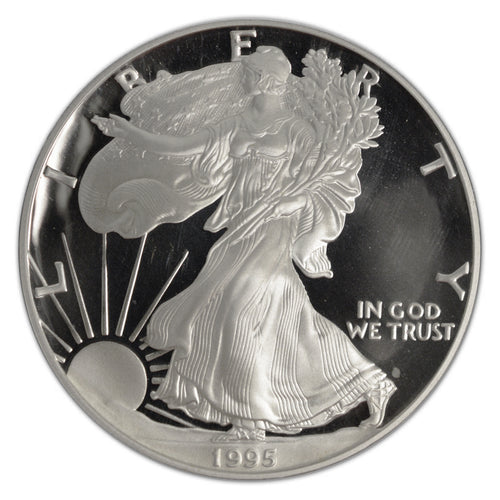 KEY DATE! Silver Eagle 1995-W Proof PR-68 DCAM Deep Cameo - Coin