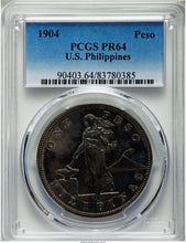 Silver Peso Philippines Proof 1904 PR-64 PCGS - Coin