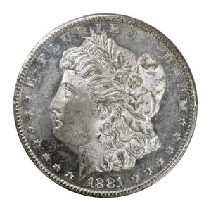 US - Silver Morgan Dollar 1881-CC MS-61 PL Proof Like PCGS - Coin