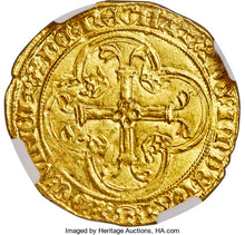 France - Charles VII (1422-1461) gold Ecu d'Or ND (1436-1457) MS63 NGC