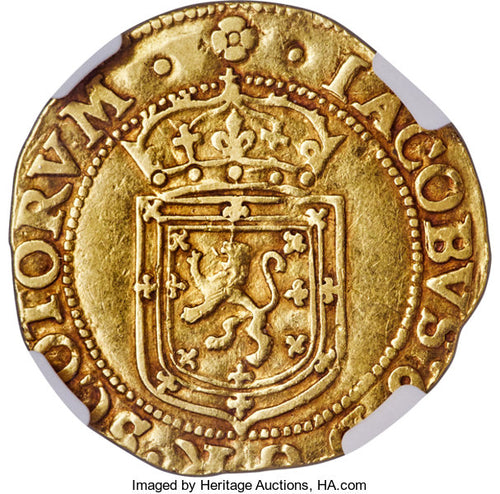 Scotland - James VI (I) gold Sword and Scepter 1602 VF35 NGC