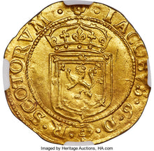 Scotland - James VI (I) gold Sword and Scepter 1601 UNC Details (Scratches) NGC