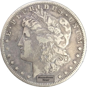Silver Morgan Dollar Random Year Fine or Better - Coin