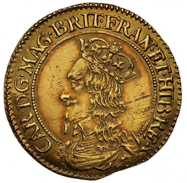 Scotland - Gold Half Unit - Charles I Briot Issue - TONED!