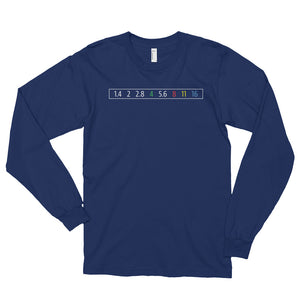 Aperture Ring Full Stop f/stop Long-Sleeve T-Shirt