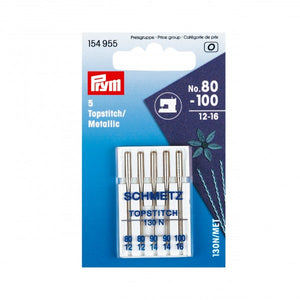 Topstitch / Metallic Sewing Machine Needles x 5 - Prym - Haberdashery & Tools - Prym - Sew Me Sunshine
