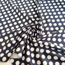 Black Polka Dot - Stretch Cotton Sateen