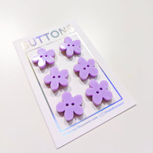 "Lavender Flower Buttons 19mm (.75"")"