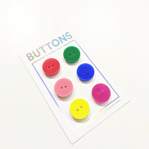 "Rainbow Set Classic Round Buttons 15mm (.59"")"