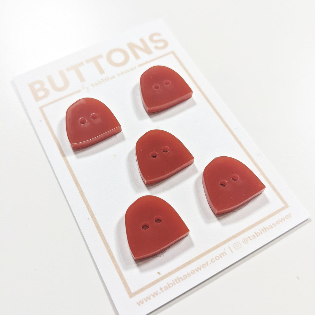Rust Uphill Buttons 16mm (.63