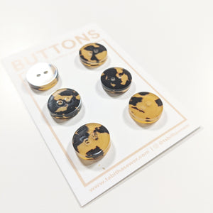 "Tortoise Copper Classic Round Buttons 15mm (.59"")"