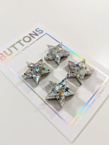 "Oh My Stars! Star Buttons 20mm (.81"")"