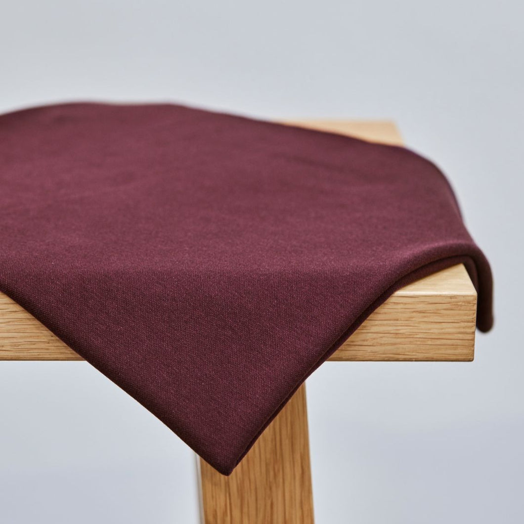 Maroon - Two-Face Coda Interlock with TENCEL™ fibres - meetMILK