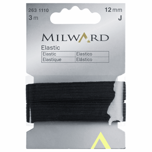 Elastic Tape 12mm x 3m Black - Milward