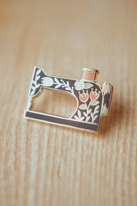 Sewing Machine Enamel Pin - Justine Gilbuena - Enamel Pin - Justine Gilbuena - Sew Me Sunshine